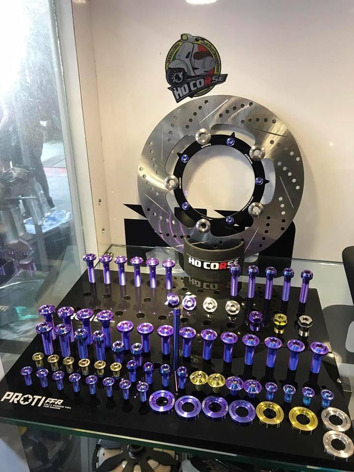 Bán đồ chơi phụ kiện ốc titan cho xe Vespa Sprint Lx Primavera S GTS độc lạ tphcm