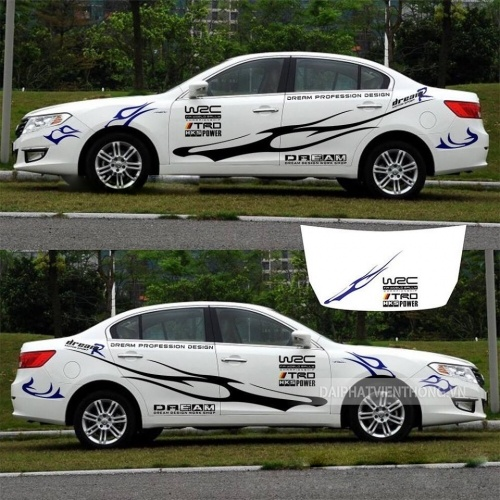 Dán tem trang trí decal thiết kế xe ô tô 4 chỗ giá rẻ tphcm