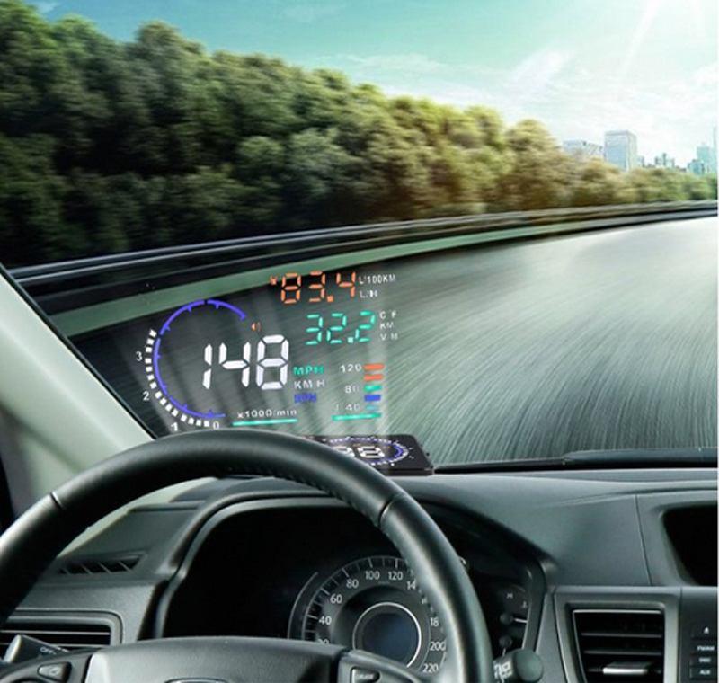 Vua giá bán bộ hiển thị tốc độ trên kính lái HUD A8 ô tô giá rẻ tphcm