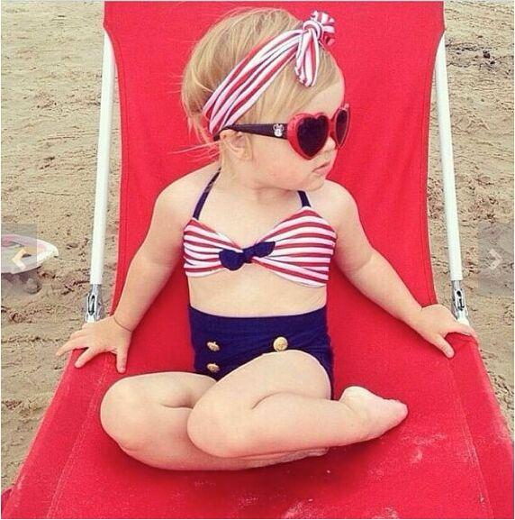 đồ bơi trẻ em bikini thủy thủ sexy dbte0007