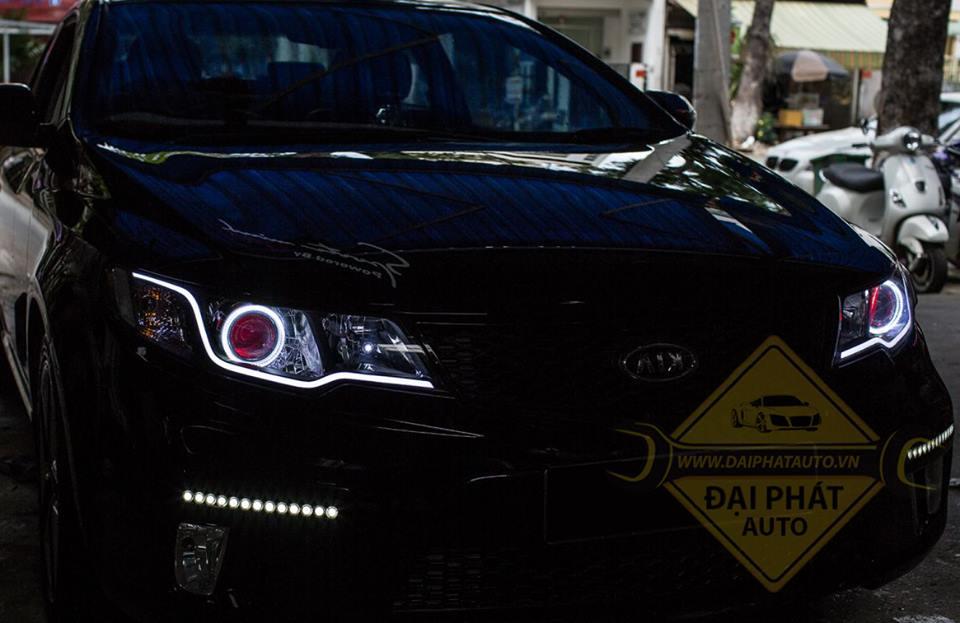 Mẫu độ đèn xe Kia Cerato siêu đẹp