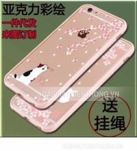 066 ốp lưng iphone 6 6s trong in hoa viền...