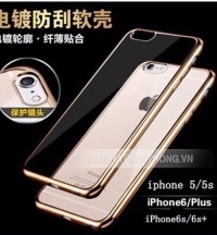 105 silicon iphone 7 trong suốt viền màu