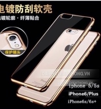 105 silicon iphone 6 trong suốt viền màu
