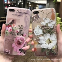 153 Silicon iphone 7 plus hoa nổi 3D