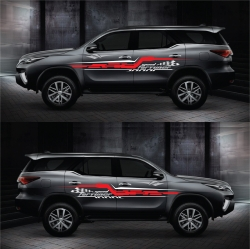 0228 Decal sườn xe hơi Toyota Fortuner thể thao 2