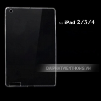 017 ốp lưng ipad 2-3-4  silicon trong suốt
