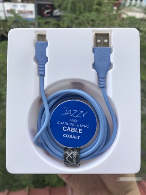 Cáp Innostyle Jazzy USB-A to USB-C 1.2M Light Blue